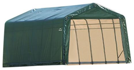 12&x27;x28&x27;x8&x27; Peak Style Shelter, Green.