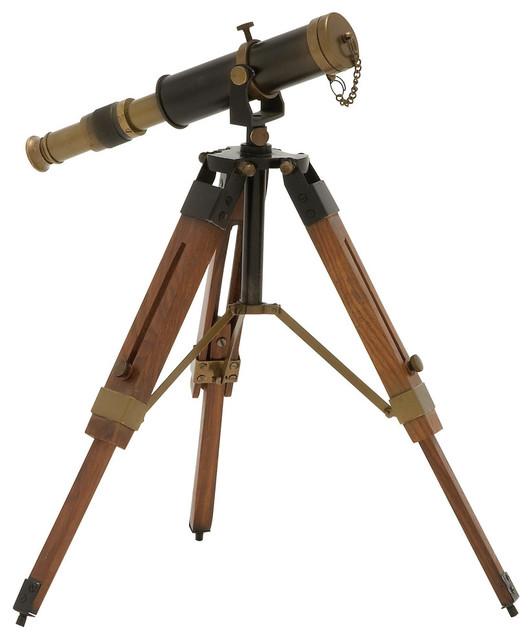 Josiah Brass and Wood Telescope