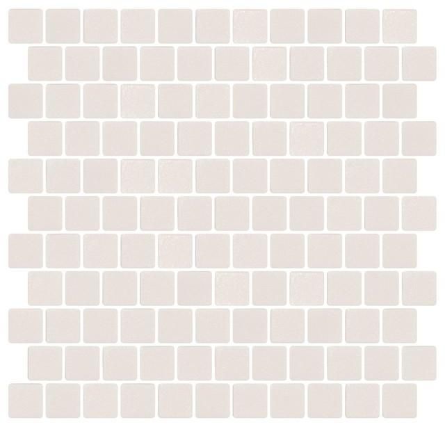12x12 Cream White Textured Anti Slip Glass Tile Off Set
