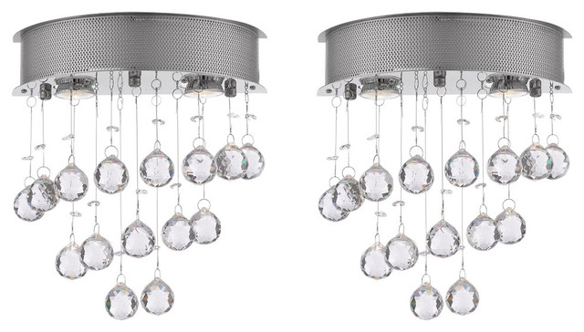 1d6270c048a49 Crystal Rain Drop Wall Sconces, Set of 2 - Contemporary - Wall Sconces - by  GSPN
