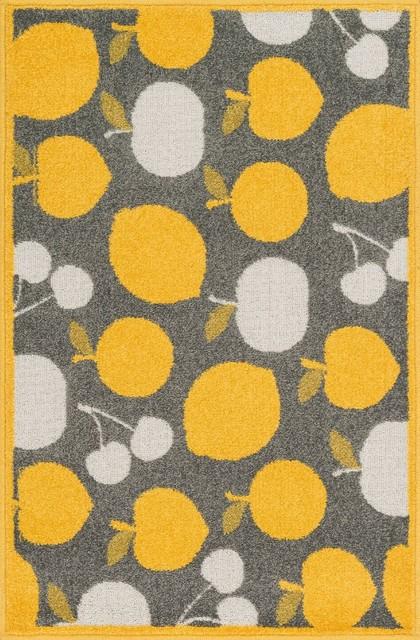 "Tilley Area Rug, Gray-Yellow, Hearth 2'5""x3'9"""