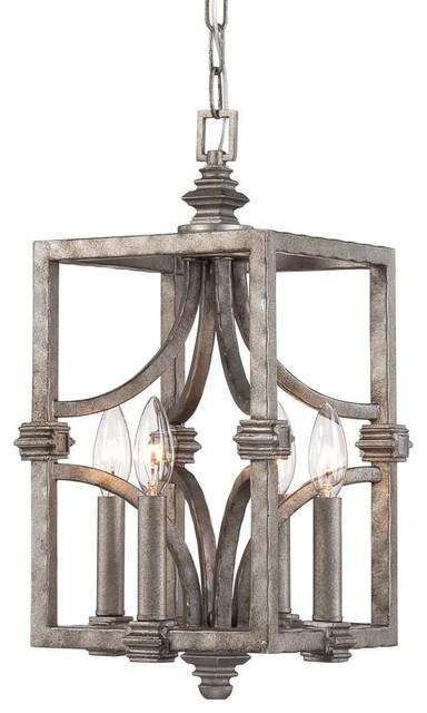 Savoy House Aged Steel 4-Light Pendant 3-4302-4-242