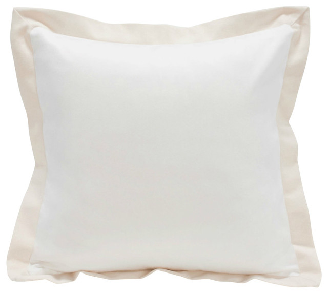 Organic Flange Cotton Pillow.