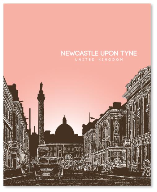 Home Decor City Landmark Tyne Bridge Newcastle Skyline Wall Art Print Poster