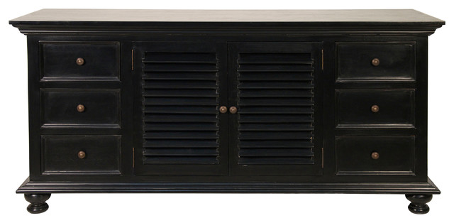 Shutter Flat Screen TV Console - Traditional - Entertainment Centers And Tv Stands - by Noir