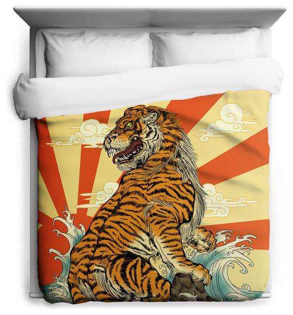 Sharp Shirter - Rising Tiger Duvet Cover & Reviews | Houzz