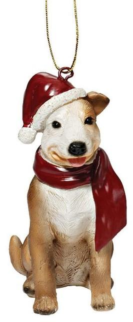 pitbull holiday dog ornament sculpture