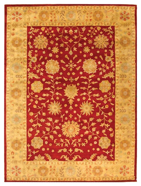 Isla Hand Tufted Rug Redgold 96x136 Traditional Area Rugs