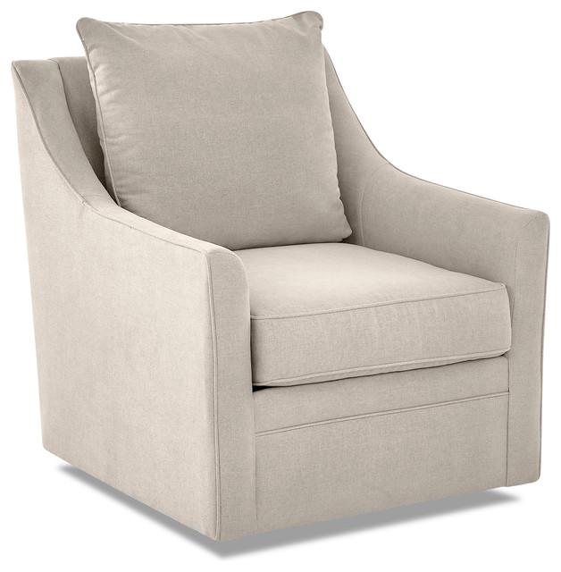 Avenue 405 Renee Swivel Chair, Linen