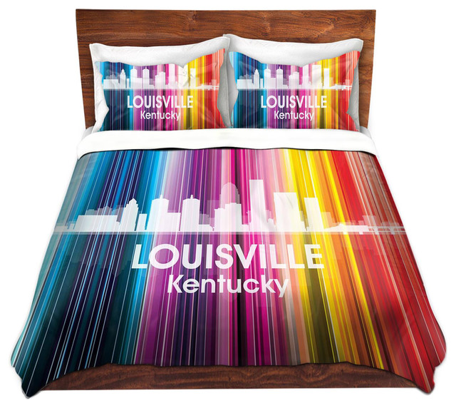 Microfiber Duvet Covers from DiaNoche by Angelina Vick City II Louisville K