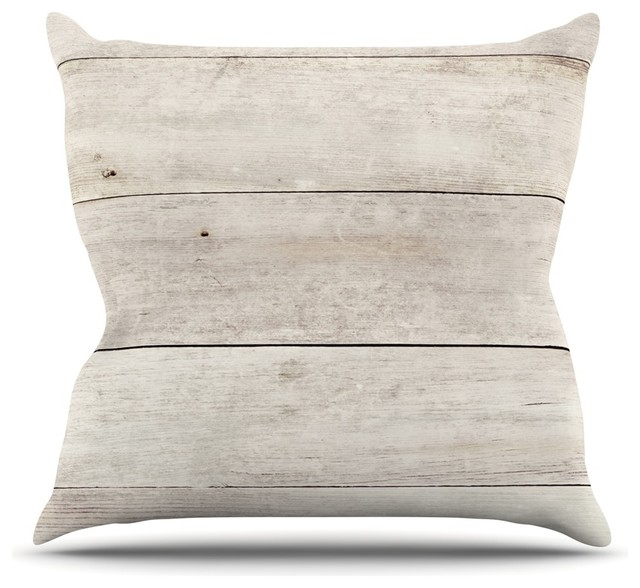 Susan Sanders White Wash Wood Beige White Throw Pillow Delectable How To Wash A Decorative Pillow