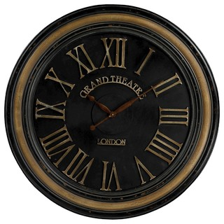 wall clock grand theatre large clock wth distressed handpainted frame traditional wall