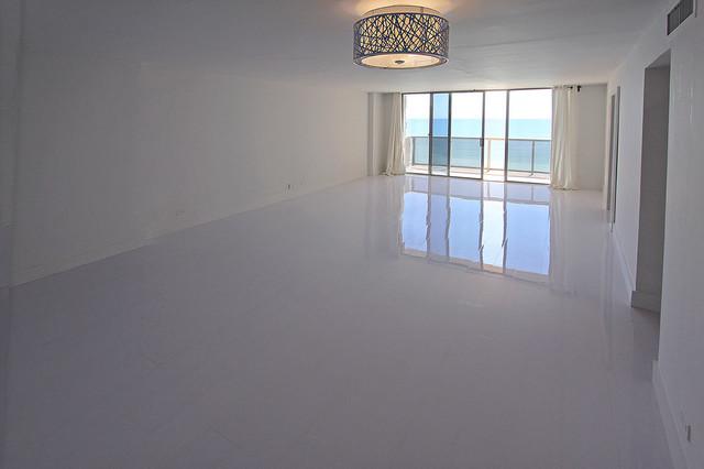 White Glossy Laminate Floors Modern