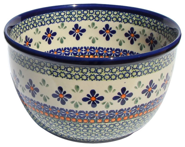 Polish Pottery Mixing Bowl Pattern Number Du60