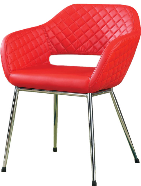 Contemporary Accent Upholstered Leatherette Armchair