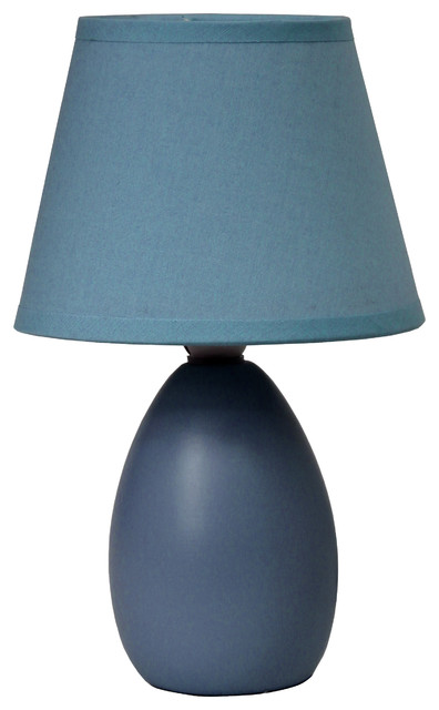 Simple Designs Mini Egg Oval Ceramic Table Lamp Contemporary Lamps By Virventures