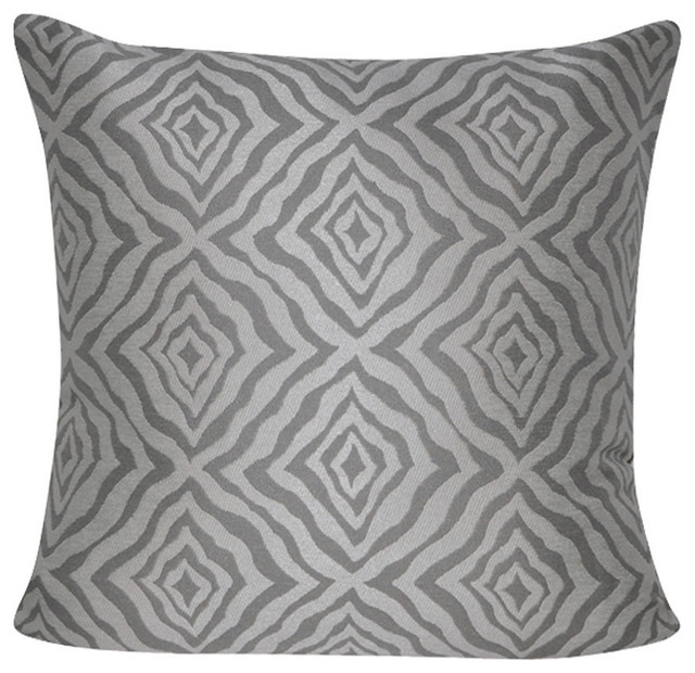 Loom And Mill 40x40 Indoor Outdoor Taupe Wavy Diamonds Decorative Adorable Loom And Mill Decorative Pillows