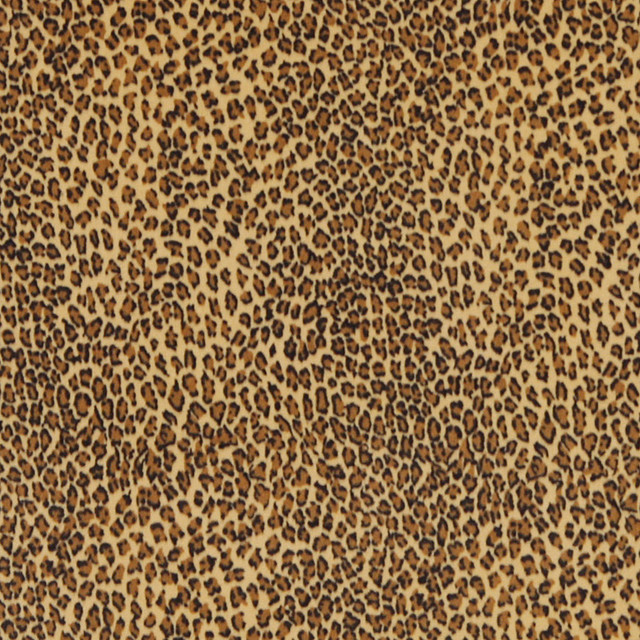 Yellow Leopard Print Microfiber Stain Resistant Upholstery Fabric By The Yard