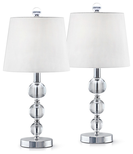Taranto 2 Piece Set Crystal Balls Table Lamps Transitional Lamp