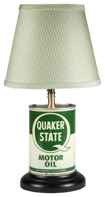 Vintage Green White Motor Oil Can Lamp Lamp Shades By