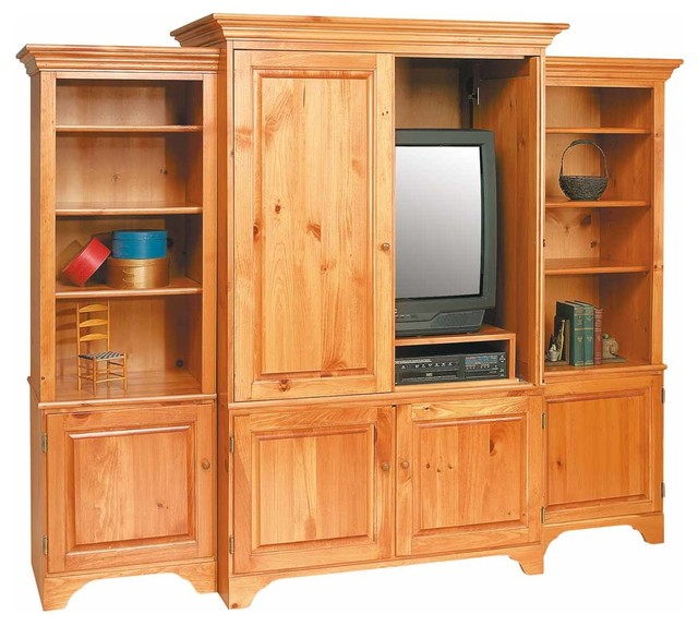 The Renovator's Supply Inc. - Shaker Unfinished Pine TV Stands Entertainment Center Solid ...