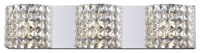 Captivating Z Lite 867 3V 3 Light Crystal Vanity Light Contemporary Bathroom Vanity