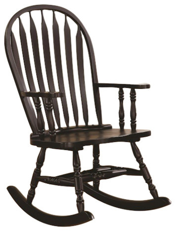Coaster Transitional Rocking Chair, Black by Coaster Home Furnishings