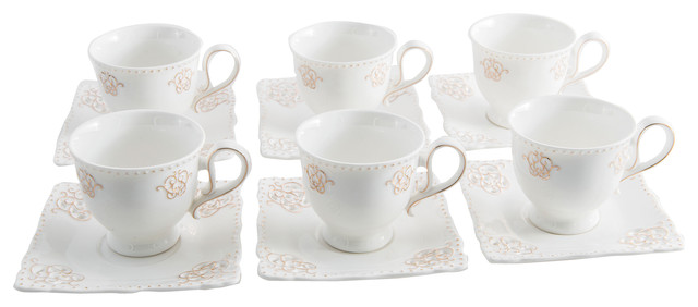 Elisabeth Coffee Cup and Saucers, Set of 6