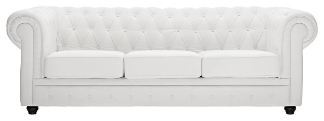 Modway EEI-701-WHI Chesterfield Sofa, White