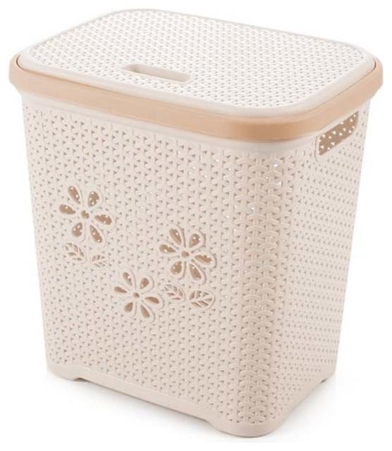 Large Laundry Basket Toy/snack Storage Basket/plastic Dirty Clothes Basket.