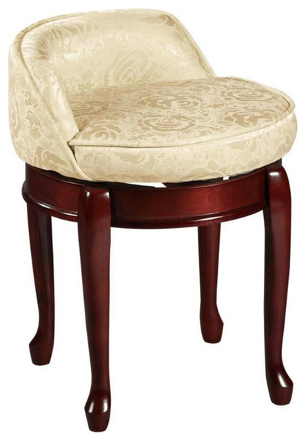 Low Back Swivel Vanity Stool Transitional Vanity Stools And Benches By