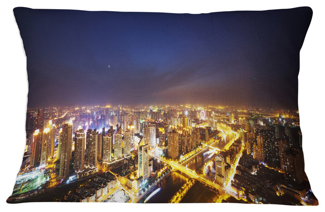 X 26 In Designart Cu10997 26 26 Downtown Nighttime Panorama Cityscape Cushion Cover For Living Room Insert Printed On Both Side In Sofa Throw Pillow 26 In Home Kitchen Throw Pillow Covers