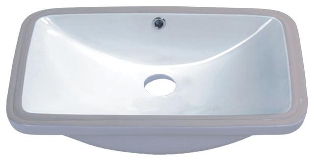 Vanity Fantasies Trough Porcelain Rectangular Undermount Vanity Sink Traditional Bathroom