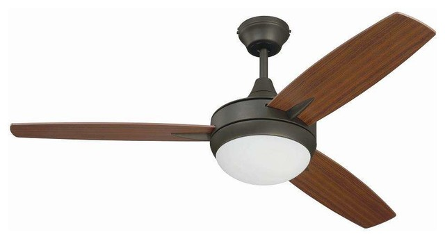 """Craftmade Tg48esp3 Targas 48"""" Ceiling Fan, Wall Control And Light Kit."""