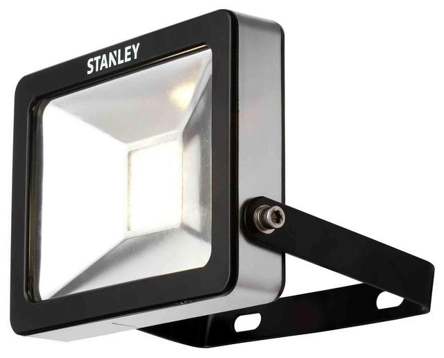 Stanley zurich outdoor led flood light cool white light black
