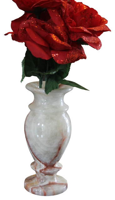 Small Onyx Marble Vase Traditional Vases By Marble Products