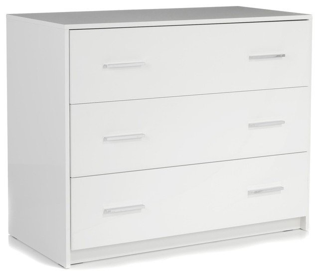 Nuvola commode blanc laqu 3 tiroirs contemporary chests of drawers b - Commode laquee blanc 6 tiroirs ...