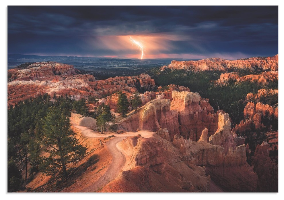 Storm Pictures Landscape Photography Bryce Canyon Images on Metal