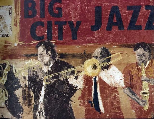 Brown Jazz Musicians Wallpaper Border Roll Traditional
