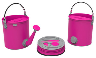 Colourwave Collapsible 7L Watering Can/Bucket Combo, Pink