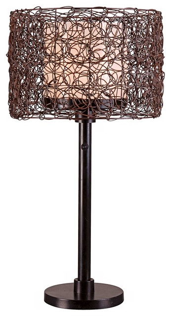 Tanglewood Outdoor Table Lamp, Bronze Finish.