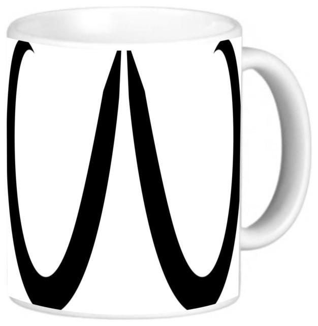 pencil handlebar mustache coffee mug contemporary mugs by