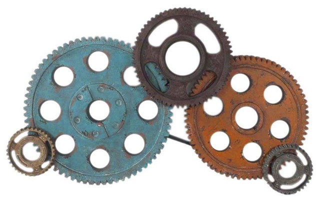 Gear Wall Decor gears wall decor large - industrial - metal wall art -beyond