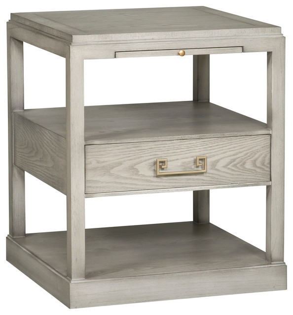 Vanguard Furniture Tennyson Dove Gray Side Table W602L DG Transitional Side  Tables