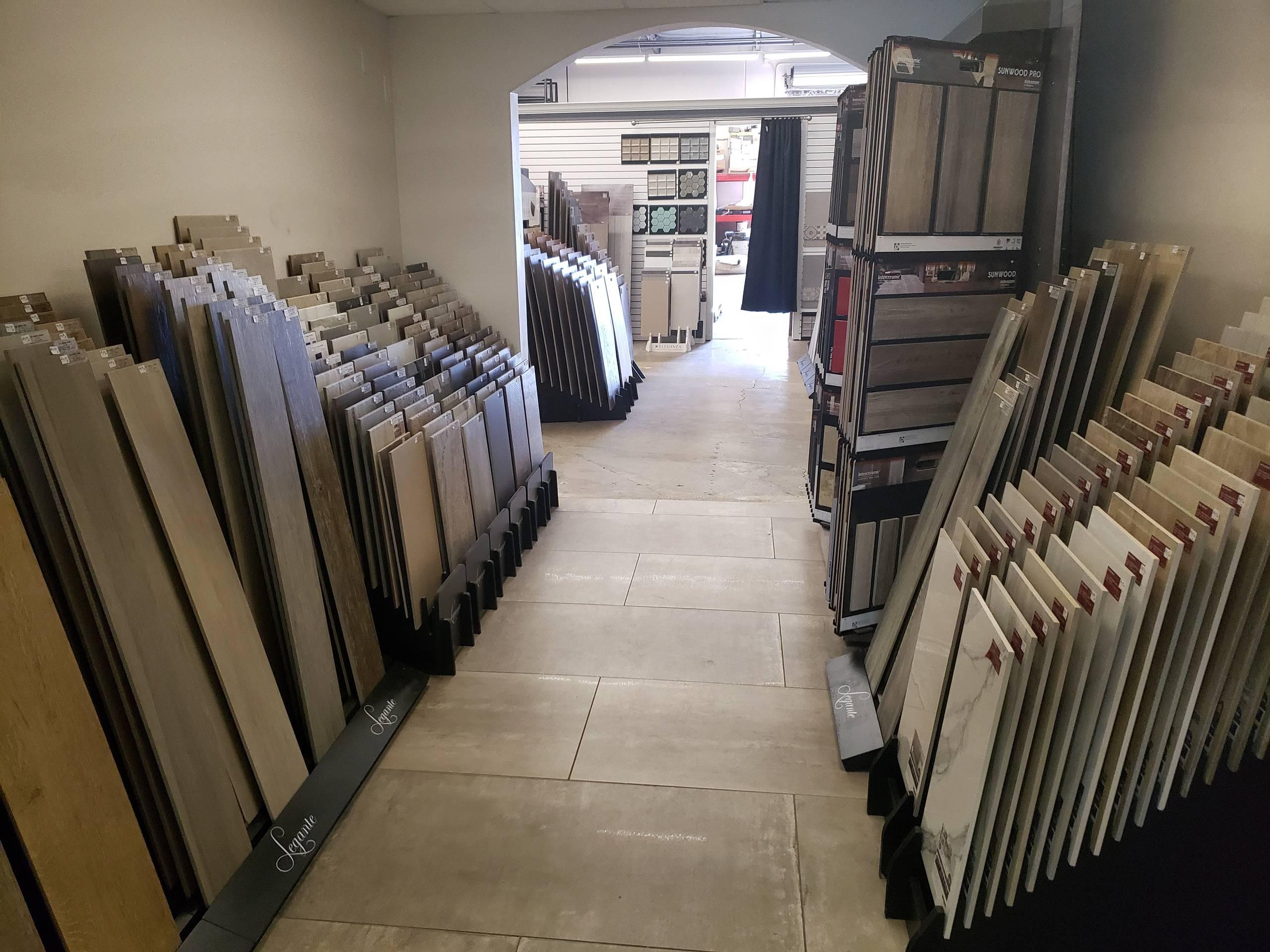 Stone and Luxury Vinyl Plank Samples