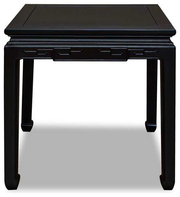 Elm Wood Chinese Key Design Lamp Table Black Asian Side Tables And End Tables By China Furniture And Arts