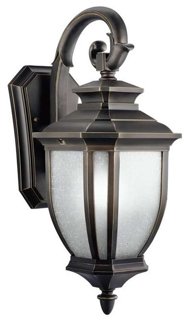 Kichler Lighting 9040BK Salisbury Transitional Outdoor Wall Light - Medium - Transitional ...