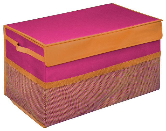 Kids Collapsible Toy Box Pink Large  sc 1 st  Houzz & Kids Collapsible Toy Box - Contemporary - Kids Storage Benches And ...