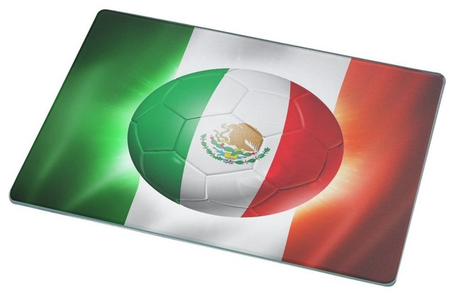 6573183110fa Brazil World Cup 2014 Mexico Football Soccer Flag Cutting Board