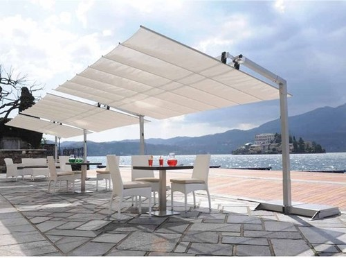 How Does This Type Of Awning Hold Up To High Winds I Am Looking Find Shade Structure For A Rooftop